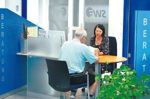 Kundenbetreuung vor Ort bei den Stadtwerken Emmendingen