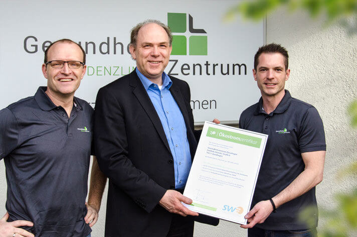 Stadtwerke Emmendingen beliefern das Gesundheitszentrum Denzlingen mit Ökostrom
