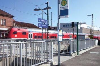 Verlegung der Regionalbuslinien  7200.1, 7200.2, 7201 und 202 auf  die Südwestseite des Bahnhofs zur  Haltestelle Bahnhof/Musikschule