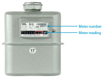 How to read the gas meter
