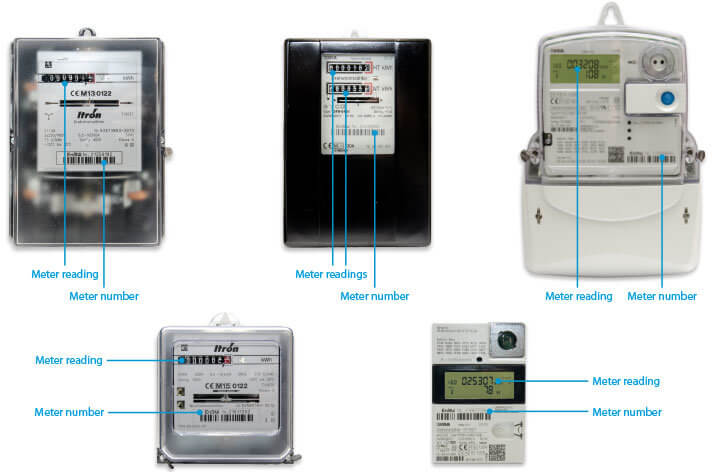 Different types of electricity meters