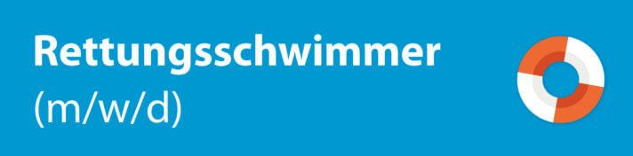 Schriftzug Rettungsschwimmer mit Rettungsring-Icon