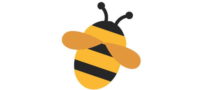 Stilisierte Biene