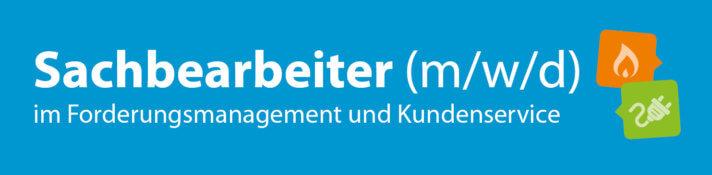 """Grafik mit der Aufschrift """"Sachbearbeiter (m/w/d) im Forderungsmanagement und Kundenservice"""""""