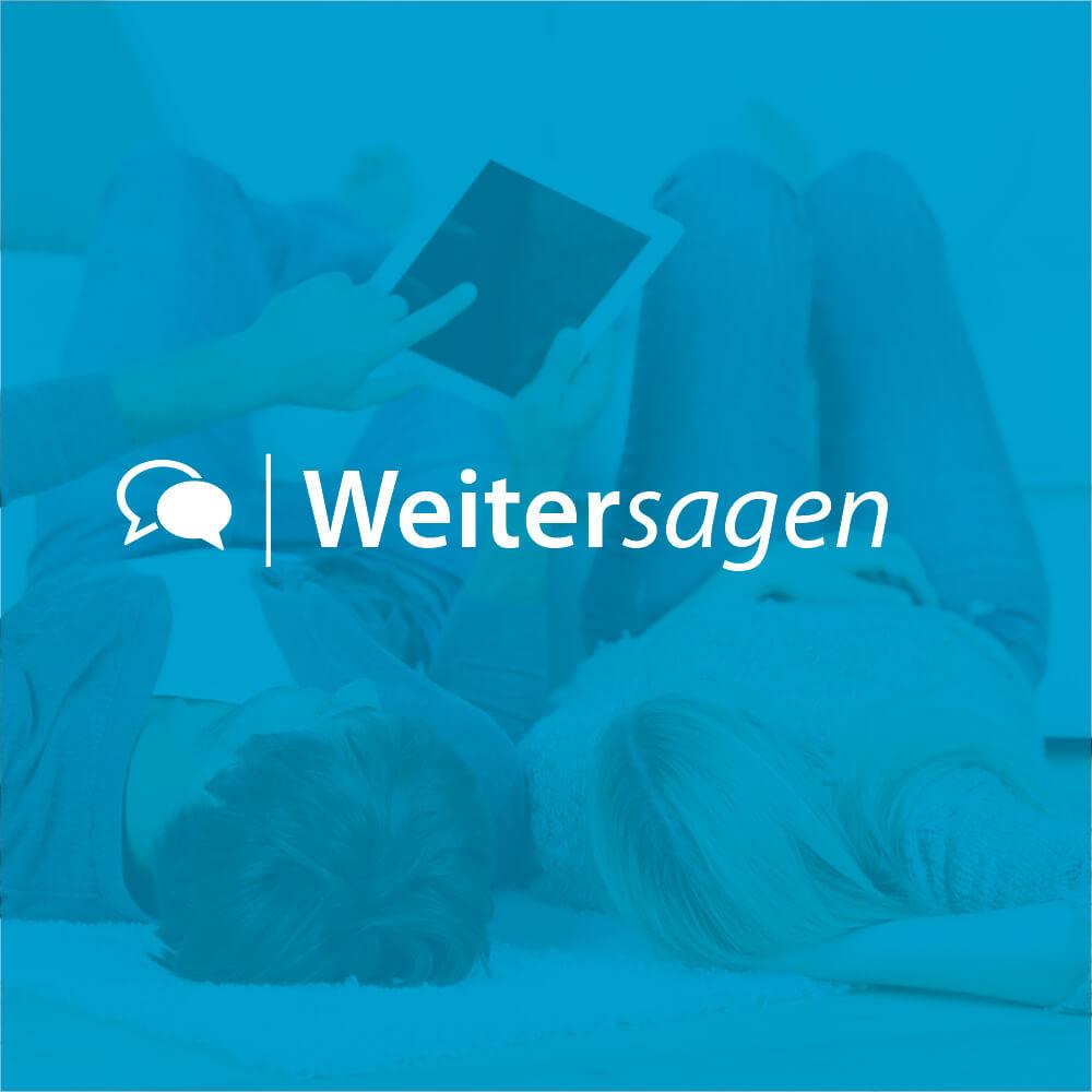 """Logo des Bonus-Programms """"Weitersagen"""""""