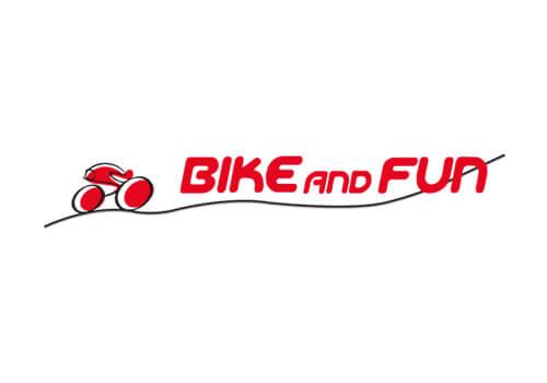Logo des Fahrrad-Verkäufers Bike and Fun.